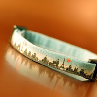 Paris Skyline Cat Collar