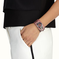 FENDI | BY THE WAY BANGLE in pink Elaphe with studs