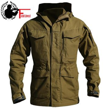 M65 UK US Army Clothing Casual Tactical Windbreaker Men Winter Autumn Flight Pilot Coat Male Hoodie Military Style Field Jacket