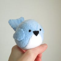 Childrens Light Bluebird Stuffed Animal Kids Plush Toy