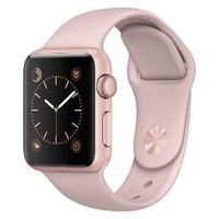 Apple® Watch Series 1 38mm Rose Gold Aluminum Case with Pink Sand Sport Band