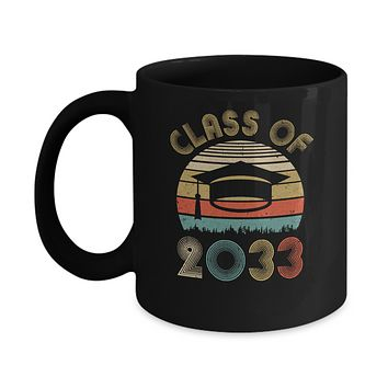 Class Of 2033 Grow With Me Graduation First Day Of School Mug