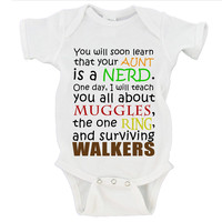 You will soon learn that your Aunt is a NERD. Harry Potter, LOTR, The Walking Dead