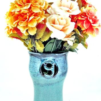 9th Anniversary gift Pottery flower vase - Made to order