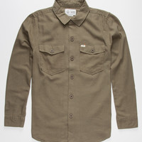 Captain Fin Yes Sir Mens Shirt Olive  In Sizes