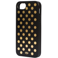 Gold Dots iphone 5 + 5s case - Inlay