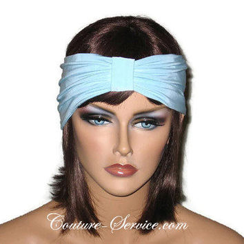 Handmade Blue Knot Headband Turban, Powder