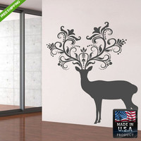 Wall Decal Mural Sticker Beautyfull Cute Deer Elk Animals Bedroom (z109)