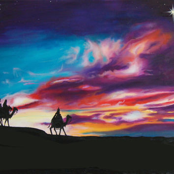 The Three Wise Men Sunset Print