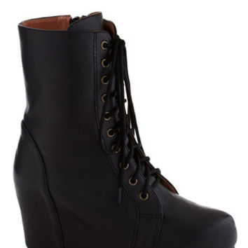 Jeffrey Campbell Steampunk The Last Strawberry Boot in Black