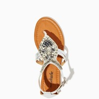 Nina Metallic Beaded Sandals | Shoes | charming charlie