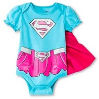 Supergirl Newborn Girls' Caped Bodysuit - Blue