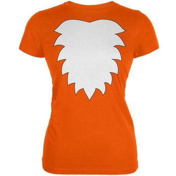 DCCKJY1 Fox Costume Orange Juniors Soft T-Shirt