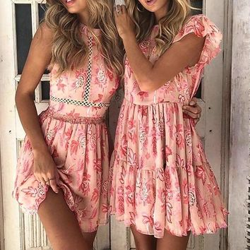 Amora High-Neck Floral Romper