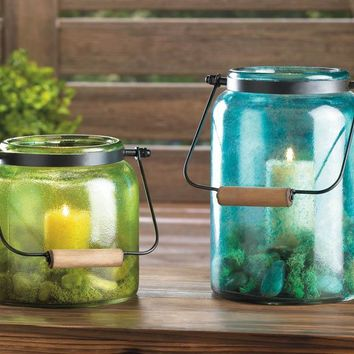 Rustic Country Canning Jar Candle Holders
