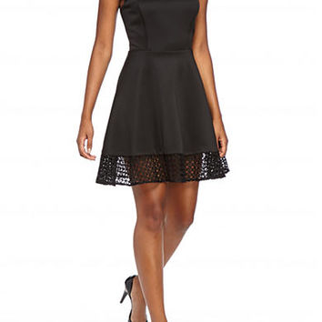 City Triangles Lazer Cut Dress