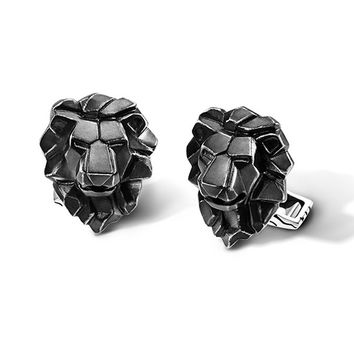 John Hardy Classic Chain Lion Head Cufflinks