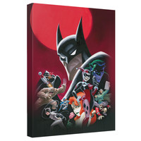 Batman Animated Series Poster Stretched Canvas Wall Art
