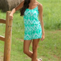 Bend Over Backwards Romper-Jade