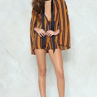 Cape It to Yourself Striped Romper