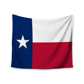 "Bruce Stanfield ""Texas Flag"" Red Blue Wall Tapestry"