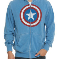 Marvel Captain America Shield Mineral Wash Zip Hoodie