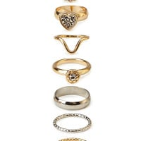 Simple Stated Midi Ring Set