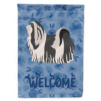 Havanese #1 Welcome Flag Canvas House Size CK5997CHF