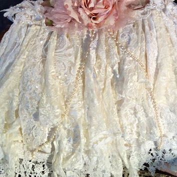 Tutu tattered lace skirt-photography-prop-Camilla
