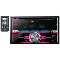 PIONEER FH-X720BT Double-DIN In-Dash CD Receiver with Bluetooth(R), MIXTRAX(R), Siri(R) Eyes Free, USB, Pandora(R) Internet Radio Ready, Android(TM) Music Support & Color Customization