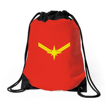 captain marvel Drawstring Bags