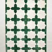 Checkered Stars Rug by Anthropologie