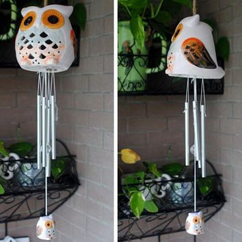 Garden Decor Solar Light Animal Owl Shape Colorful Led Indoor in Home Decor Lamp Solar Bells Wind lamp Solar Wind Chimes Led