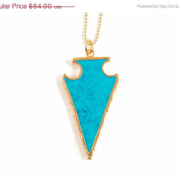 SALE Arrowhead Necklace | Boho Necklace | Turquoise Necklacee