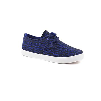Athletic-chic converse style lace up sneakers w/print