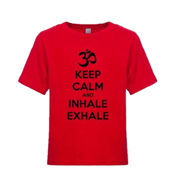Keep Calm And Inhale Exhale (OM) Unisex Kid's Tee