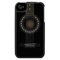 Acoustic Guitar iPhone 4 Case from Zazzle.com