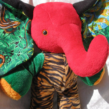 TIGER Jungle ELEPHANT - soft toy home decor stuffed plush Animal - designed and made in Berlin-Germany