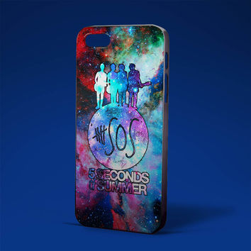 5 seconds of summer in galaxy for iPhone 4/4s,iPhone 5/5s,5c,6 samsung galaxy S3,S4,S5, hard case