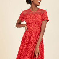 Fabulously Festive Lace Dress | Mod Retro Vintage Dresses | ModCloth.com