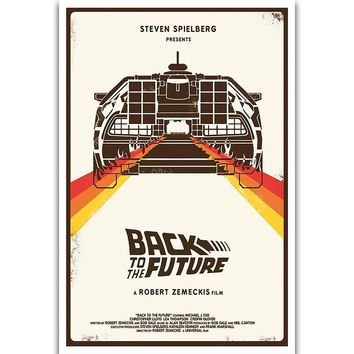 S1754 Back To The Future Classic Sci-Fi Movie Wall Art Painting Print On Silk Canvas Poster Home Decoration