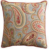 Woven Jeweled Paisley Pillow