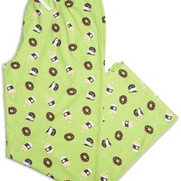 Donuts and Coffee Green Unisex Lounge Pants