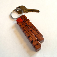 Love Keychain - Names in Rosewood - Handmade to Order