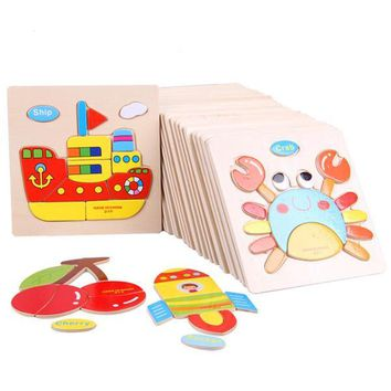 Wooden Educational Jigsaw Puzzle