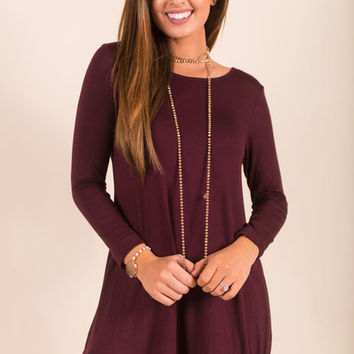 Always Be Adorable Dress, Eggplant