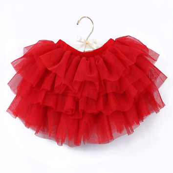 Baby Girls Clothes Children Girl Lace Tutu Skirts Baby Ballerina Skirt Kids Chiffon Casual Candy Princess Vetement Fille Skirt