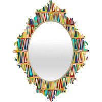 Sharon Turner Tangerine Triangles Baroque Mirror