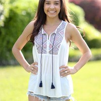 At First Sight Tank - Ivory