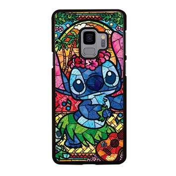 LILO & STITCH STAINED GLASS Samsung Galaxy S3 S4 S5 S6 S7 S8 S9 Edge Plus Note 3 4 5 8 Case
